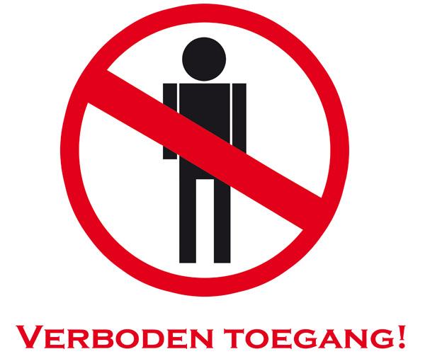 tees4 verboden toegang